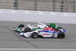 Hideki Mutoh, Newman/Haas Racing runs with Tony Kanaan, Andretti Autosport