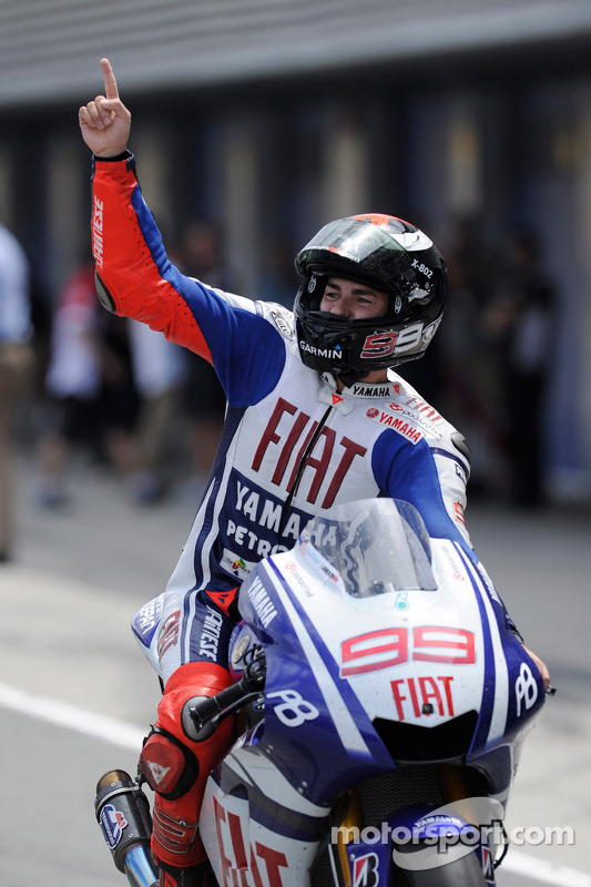 Race winnaar Jorge Lorenzo, Fiat Yamaha Team