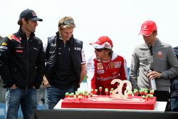 Mark Webber, Red Bull Racing, Nico Hulkenberg, Williams F1 Team, Fernando Alonso, Scuderia Ferrari, Jenson Button, McLaren Mercedes