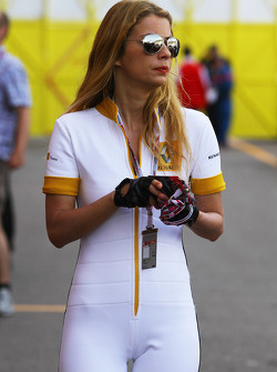 Renault girl in the paddock