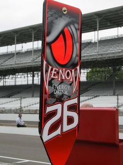 Pit sign for Marco Andretti, Andretti Autosport