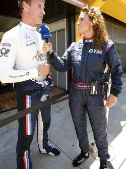 David Coulthard, Mücke Motorsport interviewed by Christina Surer