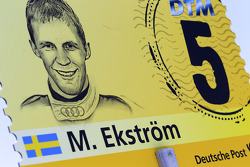 Grid board for Mattias Ekström, Audi Sport Team Abt