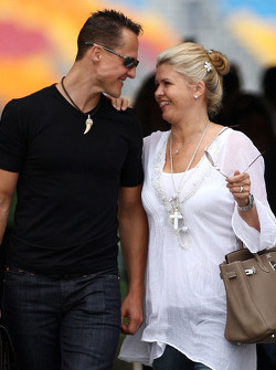 Michael Schumacher, Mercedes GP, Corina Schumacher, Corinna, Wife of Michael Schumacher