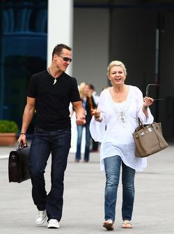 Michael Schumacher, Mercedes GP and Corina Schumacher, Corinna, Wife of Michael Schumacher