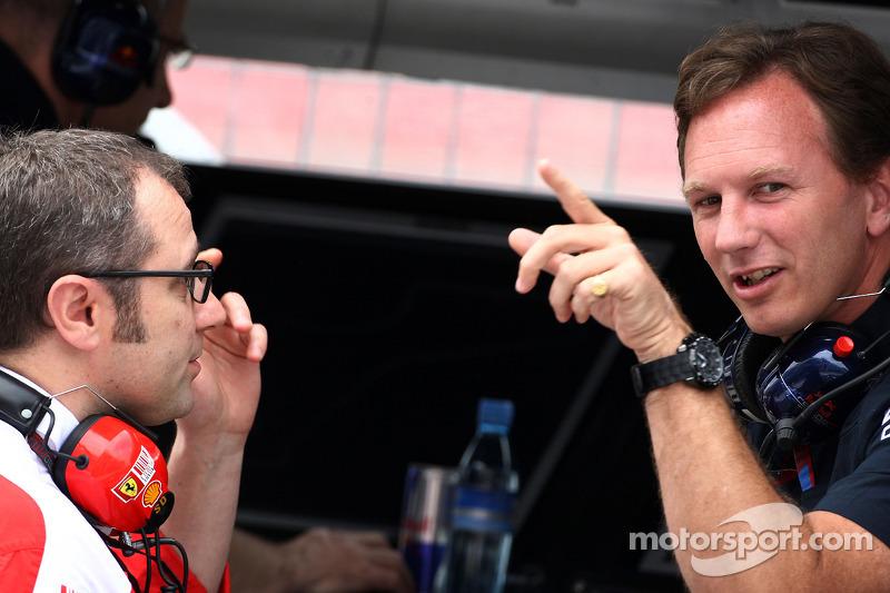 Stefano Domenicali Ferrari General Director, Christian Horner, Red Bull Racing, Sporting Director