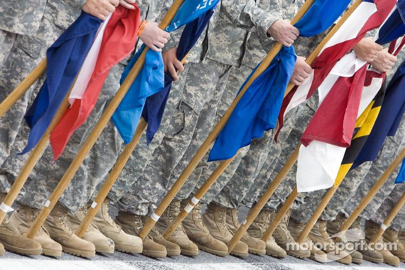 Militairen tijdens ceremonie