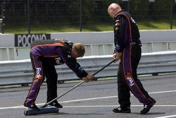 The Joe Gibbs Racing team gets ready