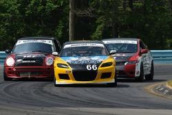 #66 Riley Mazda/Driven Clothing Mazda RX-8: Jameson Riley, AJ Riley