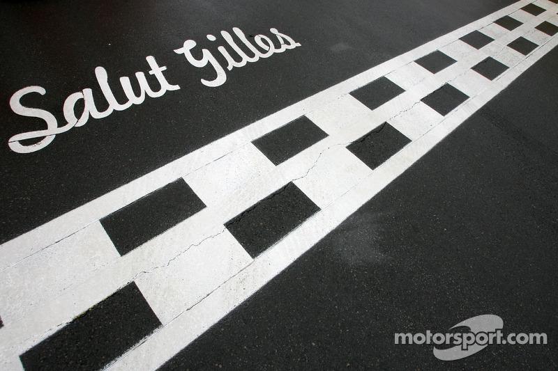 Erinnerung am Circuit Gilles Villeneuve