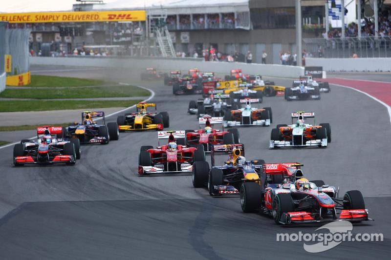 Start: Lewis Hamilton, McLaren Mercedes voor