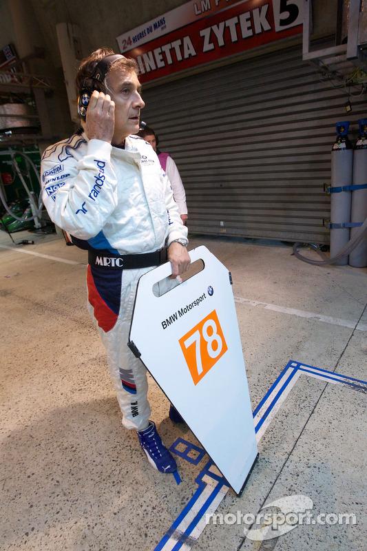 Charly Lamm klaar voor de pitstop