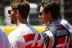 Ромен Грожан, Haas F1 Team и Эстебан Гутьеррес, Haas F1 Team