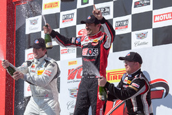 TC Race 1 podium: Nick Wittmer, Toby Grahovec, Dennis Hanratty