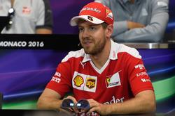 Sebastian Vettel, Ferrari in the Drivers Press Conference
