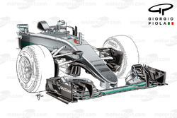 Mercedes F1 W07: Nase, Grand Prix von Spanien