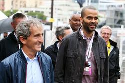 Alain Prost, und Tony Parker, Basketballspieler