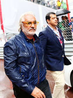 Flavio Briatore, on the grid