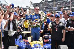 Winnaar Alexander Rossi, Herta - Andretti Autosport Honda
