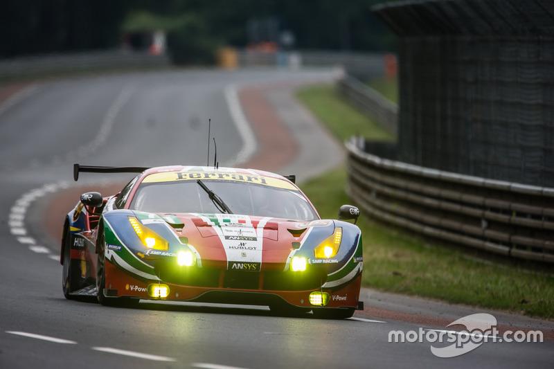 39: #71 AF Corse Ferrari 488 GTE: Davide Rigon, Sam Bird, Andrea Bertolini