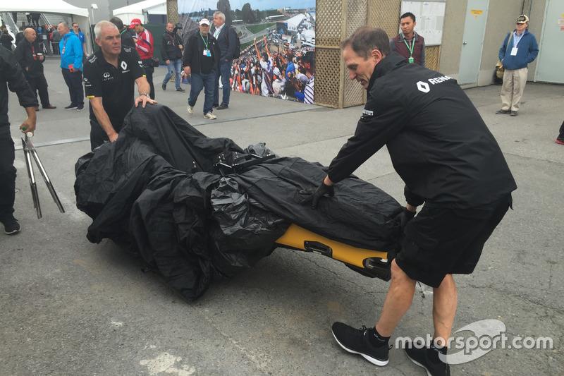 Le châssis de Kevin Magnussen, Renault Sport F1 Team R.S.16