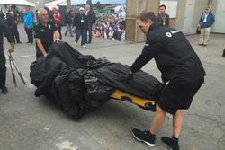 Ersatzchassis für Kevin Magnussen, Renault Sport F1 Team RS16, nach Crash