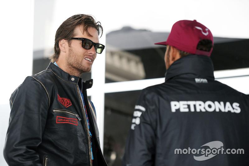 Tom Brady, Quarterback de patriotas de Nueva Inglaterra con Lewis Hamilton, Mercedes AMG F1