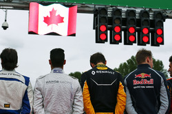 The grid observes the national anthem
