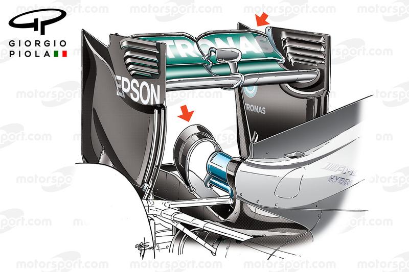 Monkey-Seat, Mercedes W07 beim GP von Kanada