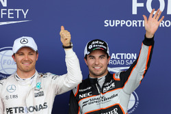 Nico Rosberg, Mercedes AMG F1 Team und Sergio Perez, Sahara Force India