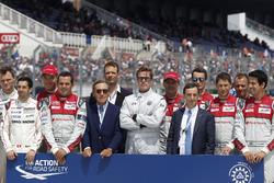 Campaña por la seguridad de la FIA  Pierre Fillon, Presidente de la ACO y Bratt Pitt