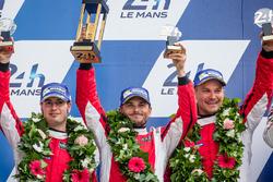 Podium LMGT Pro : les 2es : #82 Risi Competizione Ferrari 488 GTE: Giancarlo Fisichella, Toni Vilander, Matteo Malucelli