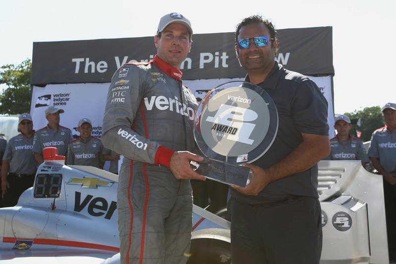 Ganador de la pole Will Power, Team Penske Chevrolet