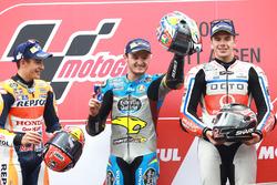 Podium: winnaar Jack Miller, Marc VDS Racing Honda, 2e plaats Marc Marquez, Repsol Honda Team, 3e plaats Scott Redding, Pramac Racing