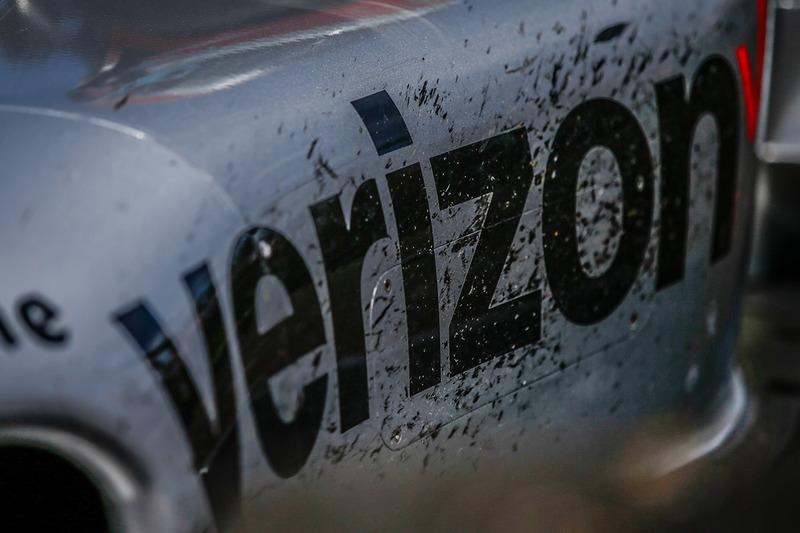 9. Detalle del Team Penske Chevrolet del ganador de la carrera Will Power