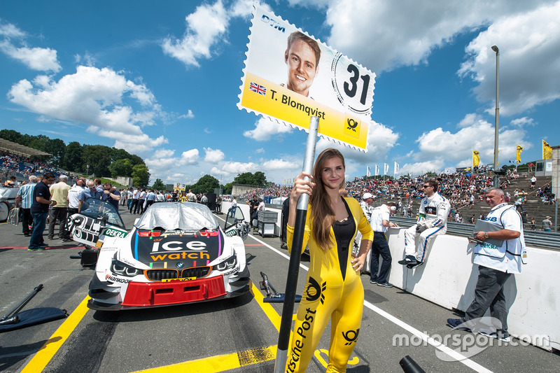 Grid girl, Tom Blomqvist, BMW Team RBM, BMW M4 DTM