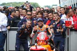 Segundo lugar Marc Márquez, del equipo Repsol Honda