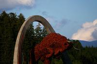Red Bull statue