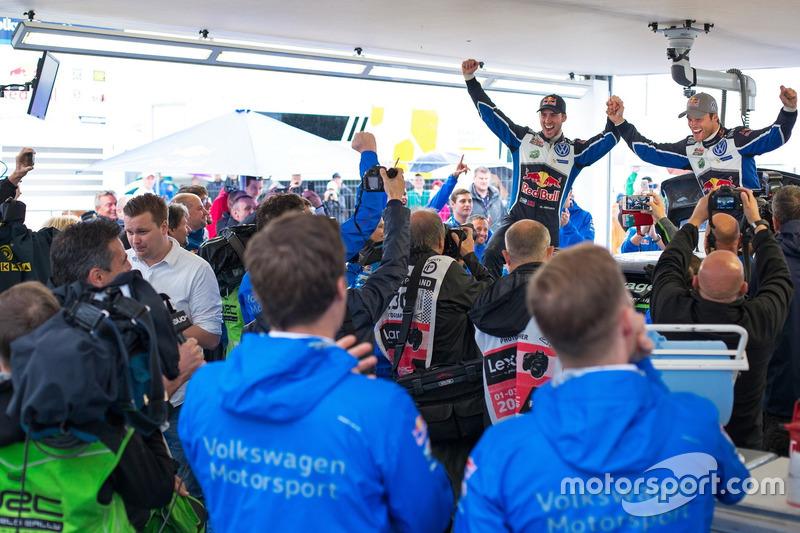 Winners Andreas Mikkelsen, Anders Jäger, Volkswagen Polo WRC, Volkswagen Motorsport