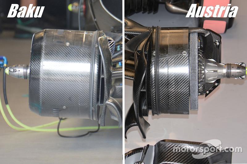 Mercedes F1 W07 Hybrid: Vorderbremsen