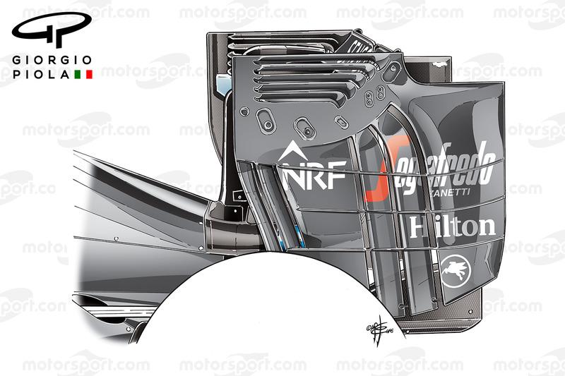 Endplate del alerón trasero del McLaren MP4/31, GP de Austria
