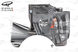 McLaren MP4/31 rear wing endplate, Austrian GP