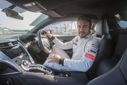 Fernando Alonso im Honda NSX