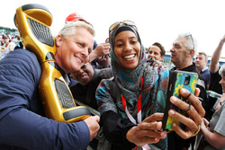 Johnny Herbert, Sky Sports F1 Presenter with fans