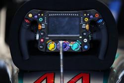 Il volante di Lewis Hamilton, Mercedes AMG F1 W07 Hybrid