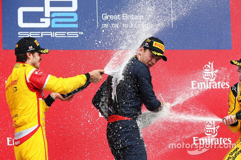 Pierre Gasly, Prema Racing, Antonio Giovinazzi, Prema Racing y Oliver Rowland, MP Motorsport