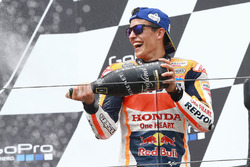 Podio: il vincitore Marc Marquez, Repsol Honda Team