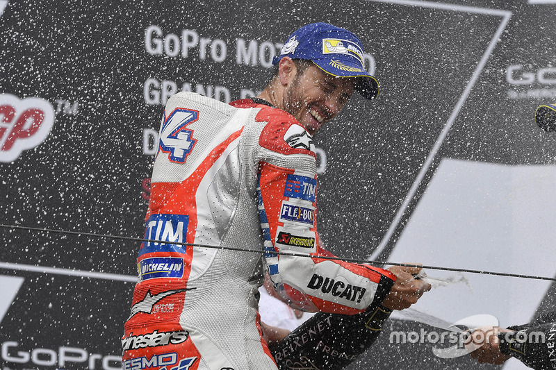 Подіум: третє місце Андреа Довіціозо, Ducati Team
