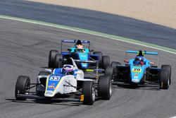 Marino Sato, Vincenzo Sospiri Racing leads Kevin Kratz, Jenzer Motorsport and Manuel Maldonado Vergas, Cram Motorsport