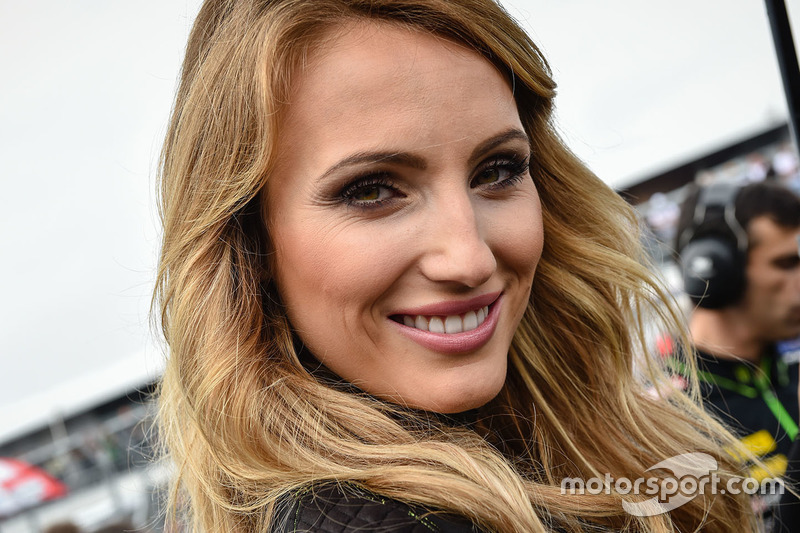 Lovely grid girl of Pol Espargaro, Tech 3 Yamaha